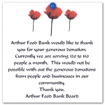 Thank You letter from Arthur Food Bank