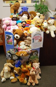 Donation of stuffed toys from Pure Source in Guelph Ontario
