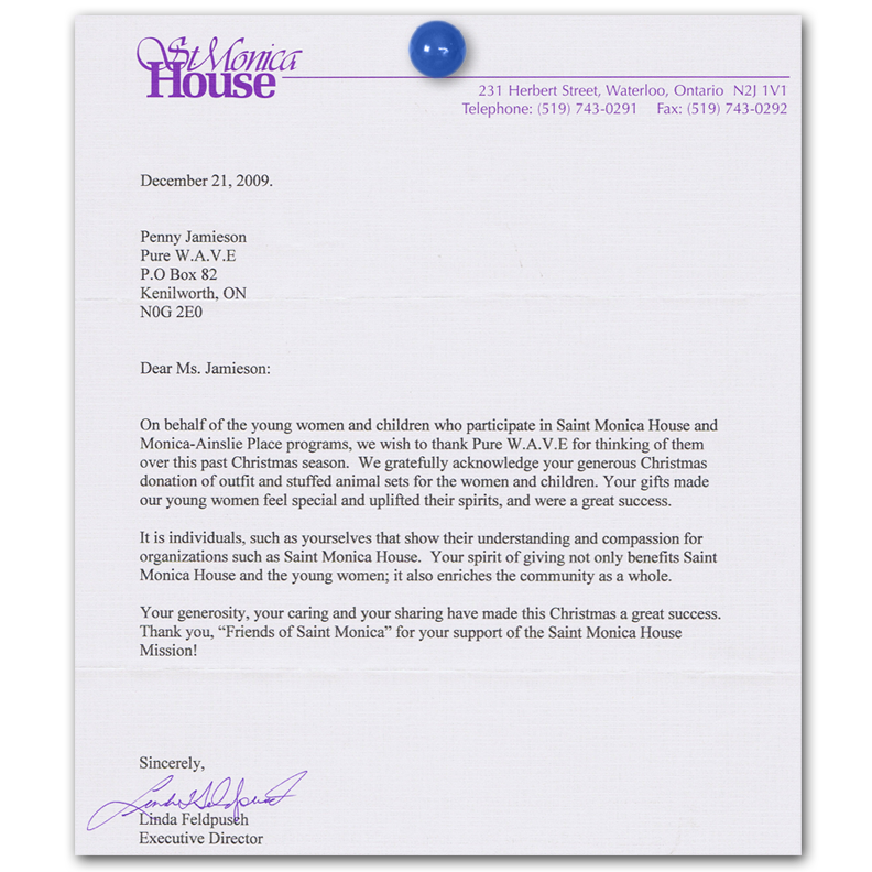 letters of thanks 2009 power of hope community organization