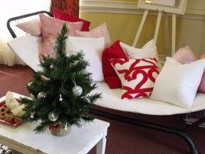 Ocean Bottega's cushions make a comfy spot for Santa