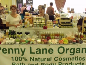 Ksenija Cucic displays her natural cosmetics at Penny Lane Organics