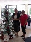Penny Jamieson greets Waterloo Mayor Brenda Halloran