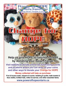 Change for HOPE - formerly Pennies for HOPE