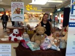 Karen at the Community Booth at Cambridge Centre Mall