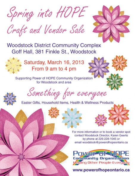 Spring into HOPE Craft and Vendor Sale Woodstock
