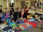 Handbags and scarves vendor at Spring into HOPE Craft and Vendor Show