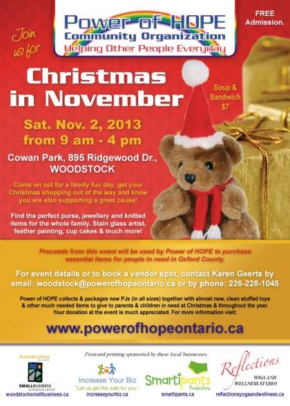 Power of HOPE's Christmas In November flyer