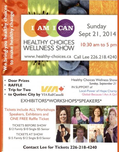 Healthy Choices Wellness Show flyer