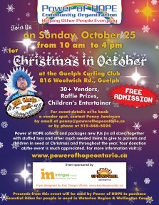 Christmas in October 2015 flyer