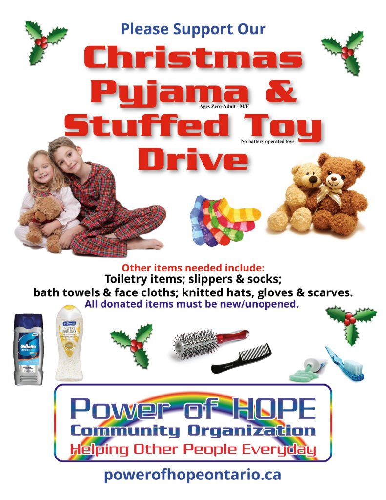 Support HOPE Christmas PJ Toy Drive Waterloo-Wellington